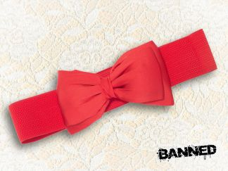 BANNED Waistbelt BELLA BOW - RED