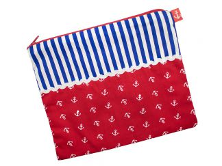 COSMETIC BAG Anchors & Stripes