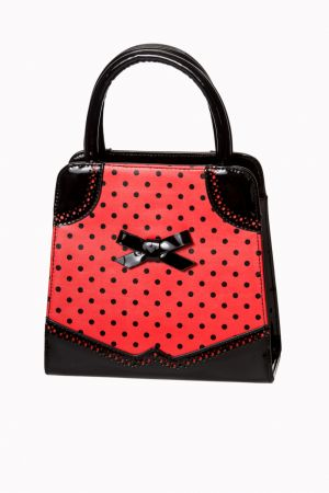 Dancing Days by Banned HANDS OFF MY POLKA Bag Red/Black