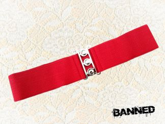 BANNED Vintage Stretch Waistbelt - RED