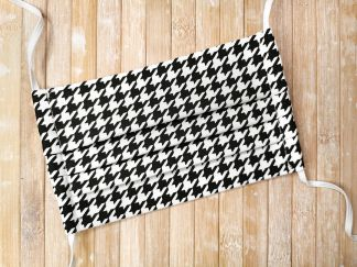 Face Mask with ties or elastic - HOUNDSTOOTH