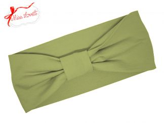 BELLA_02B Retro Turban Stirnband KHAKI