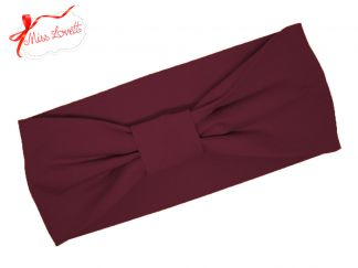 BELLA_06 Retro Stirnband BORDEAUX Rot