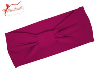 BELLA_07B Retro Stirnband Turban MAGENTA