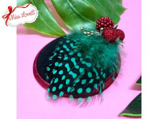 BERRYLICIOUS Mini-Fascinator Berries & Feathers