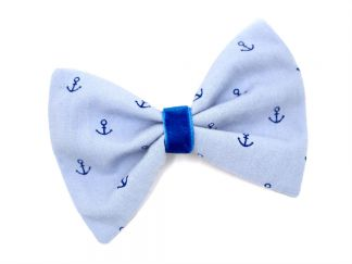 HAIRBOW_18 Light Blue Anchor Hairbow
