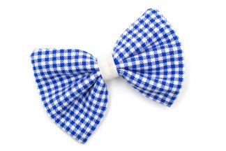 HAIRBOW_24 Navy/White gingham Hairbow
