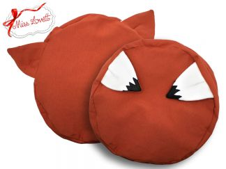 HANNAH_40 Beret Beanie rust FOX EARS