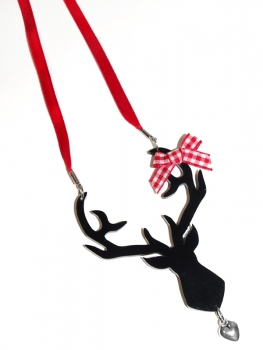 DEER 'red' acrylic necklace
