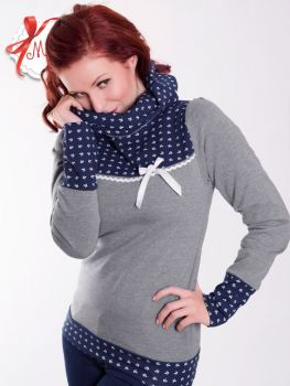 CHARLOTTE_17 Anchors Hoodie Grey/NAVY - EXPRESS