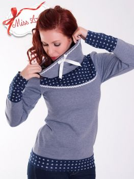 CHARLOTTE_16 Anchors Soft Hoodie NAVY - EXPRESS
