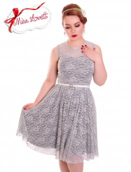 ESTELLE_06 Grey Wedding Lace Dress