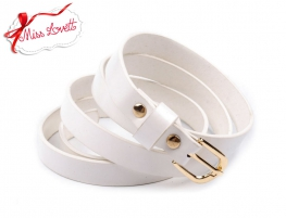 Enamel waist belt - WHITE