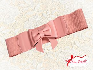 BANNED Stretchy bow Waistbelt PINK
