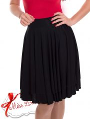 JUDY_01 Double Layer Circle Skirts BLACK