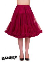 BANNED Petticoat Rock STARLITE - BORDEAUX