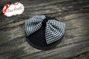 CHECKED Mini-Fascinator Houndstooth Bow