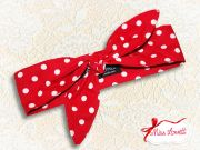 MAE_28 Reversible Rockabilly Headband 2-in-1 Big Dots RED