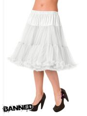 BANNED Petticoat Rock STARLITE - WEISS