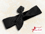 MAE_06 Reversible Headband 2-in-1 Polkadots BLACK
