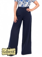 COLLECTIF Opal Palazzo Marlene Hose NAVY