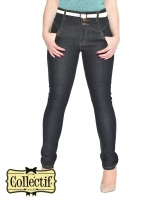 COLLECTIF Rebel Kate High Waist Jeans BLACK