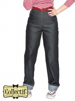 COLLECTIF High-Waist Worker Jeans Hose Siobhan BLACK